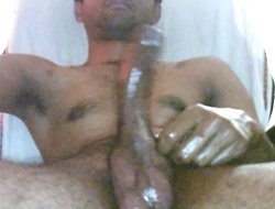 Indian oiled cock massage mastarbate thick spunk fountain cum video