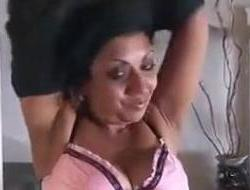 Aged Indian Does A Striptease